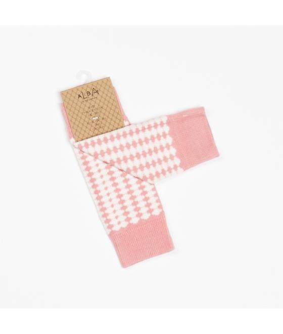 Leah legwarmer old rose tiles 2469