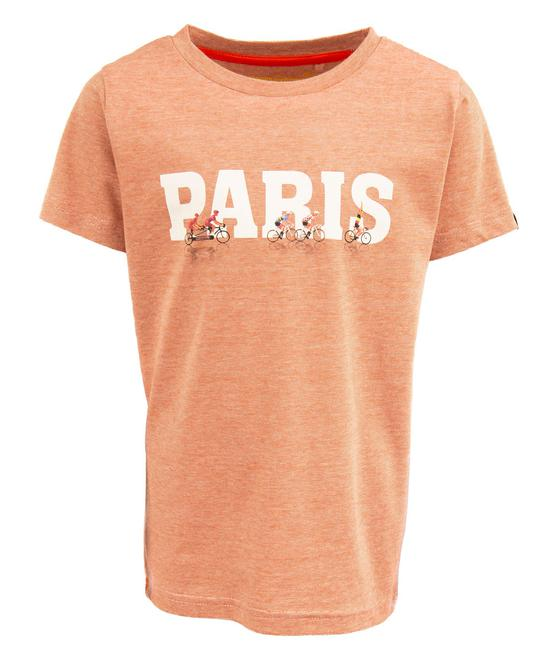 Stones and Bones T-Shirt - Short Sleeves RUSSELL - PARIS Red + Ecrù 23376