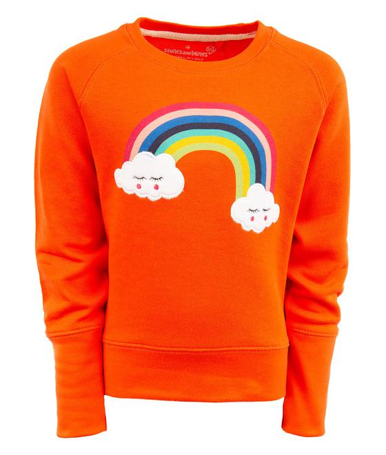Stones and Bones Sweater - No Hood DAISIES - RAINBOW Red 35510