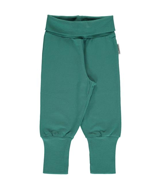 Maxomorra Pants Rib Green Petrol 73145-M340-D3254