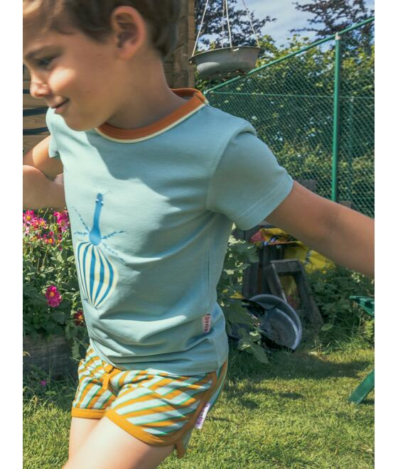 Baba Kidswear SS21 T-shirt boys Fauna/Jersey single lycra screenprint/Ether