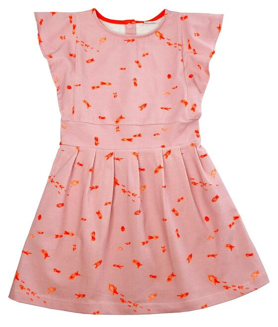 Baba Kidswear SS21 Bobette dress/Jersey single lycra digital print/Goldfish