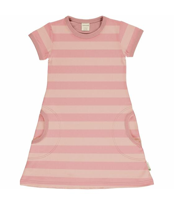 Maxomorra Dress SS STRIPE - EXPLORE 2 M531-C3369