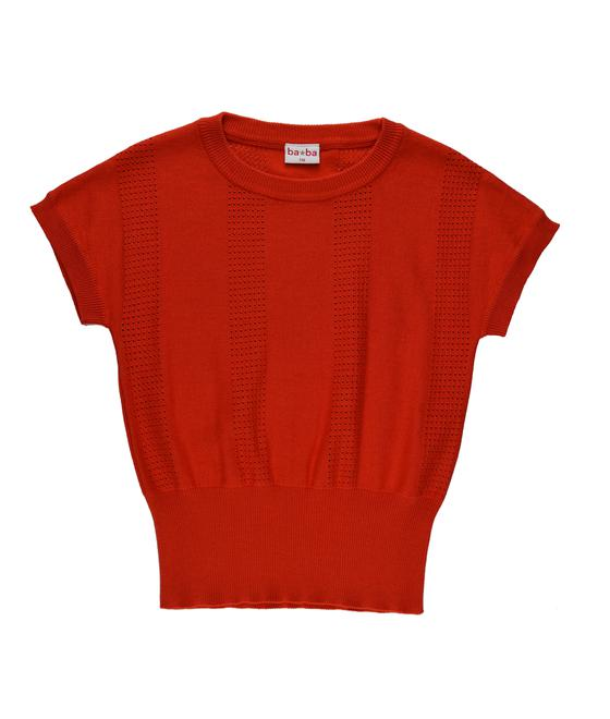 Baba babywear Knitted Shirt Red S19 knitwear