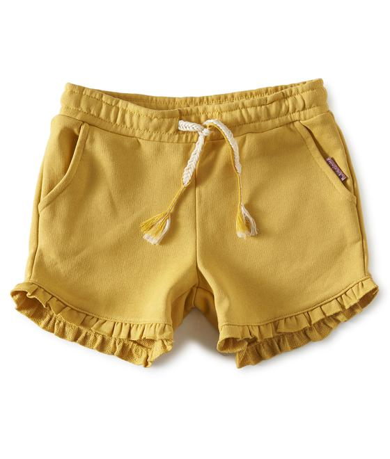 Little label Fancy sweatshort yellow w. gold 87198746840