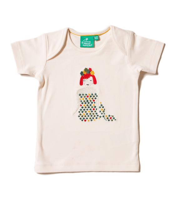 Little Green Radicals Mermaid Applique Tee S20-403-CRE