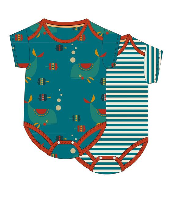 Little Green Radicals Sealife Baby Body Set S20-301-SEA