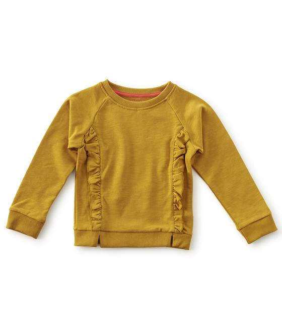 ruffle sweater - golden brown