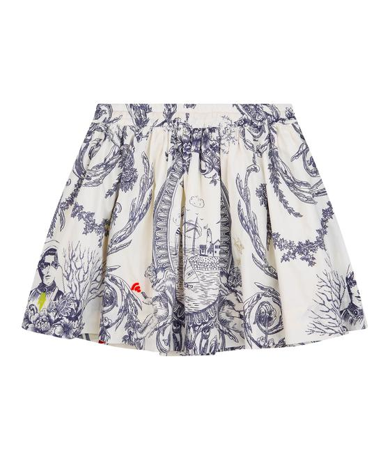Oilily Spat skirt 58 AOP Toile de Jouy with hand embroidery YS19GSK203