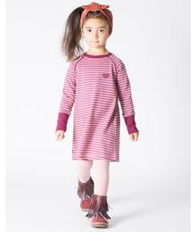Lenea school dress damson striped