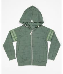 Robert zipper hood duck green waves 2422