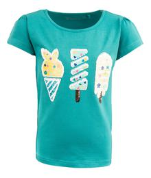 Stones and Bones T-Shirt - Short Sleeves FLORENE - POPSICLES Slate 33727