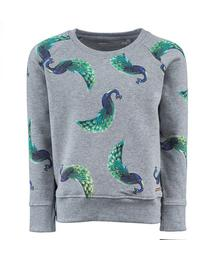 Sweater Essence - PEACOCK - mid grey