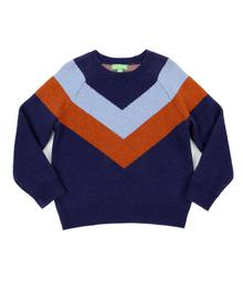 Lily Balou Livia Colourblock Sweater Dark Blue 92-LIV-KN_dark-blue
