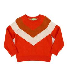 Lily Balou Livia Colourblock Sweater Tangerine Red 92-LIV-KN_tangerine-red