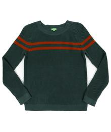 Lily Balou Otis Striped Sweater Dark Green 92-OTI-KN_dark-green