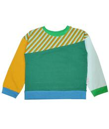 Baba Kidswear SS21 Bess longsleeve/Jersey single lycra screenprint/Diagonal blue