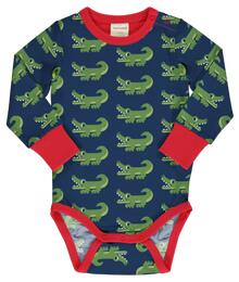 Maxomorra Rompersuit LS CROCODILE C3469-M477