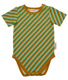 Baba babywear SS21 Body short sleeves/Jersey single lycra screenprint/Diagonal blue