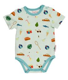 Baba babywear Body short sleeves Picnic S20 Jersey single lycra AOP