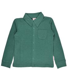 Baba babywear Cardigan Boys shirt longsleeves Bicolor Green Piqué BOYSSLS/BIG/W19