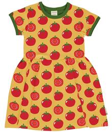 Maxomorra Dress Spin SS TOMATO C3471-M597