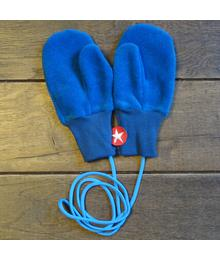 Mittens fleece plain blue W18 HMI 03s