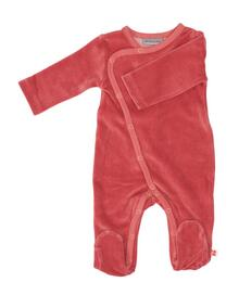 Froy & Dind JUMPSUIT WITH FEET OLD ROSE VELOURS FAW20BGF001VX05