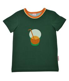 Baba Kidswear SS21 T-shirt boys/Jersey single lycra screenprint evergreen