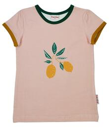 Baba Kidswear SS21 T-shirt girls/Jersey single lycra screenprint/Peach