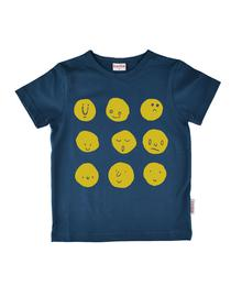 Baba babywear T-shirt Boy Funny Faces Dark Blue S19 jersey single lycra plain