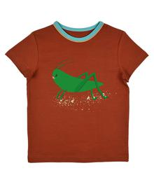 Baba babywear Grasshopper T-shirt boys Ginger bread S20 Jersey single lycra plain