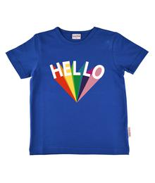 Baba babywear T-shirt boy hello blue S19 jersey single lycra plain