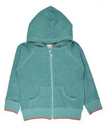 Baba babywear Hoodie Aqua S20 Speckled Terry