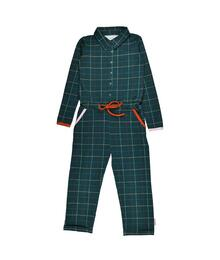 Baba babywear Aster jumpsuit Checked blue W20 Punto di roma