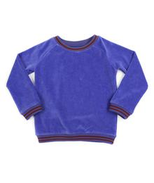 Jacky sweater velours royal blue