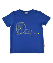 Baba babywear T-shirt Boy Lion Blue S19 jersey single lycra plain