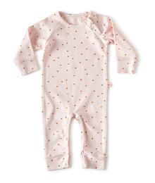 Little Label Babysuit - light pink hearts NOSBSR0-599