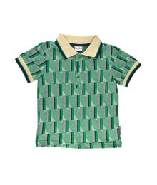 Baba babywear Polo Shirt Jacquard Green Stripes S19 Jacquard