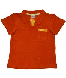 Baba Kidswear SS21 Polo Hawaian sunset Speckled terry