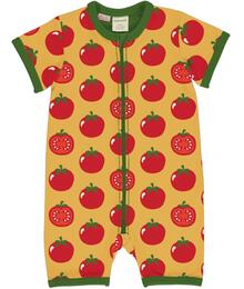 Maxomorra Rompersuit SS TOMATO C3471-M444
