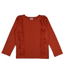 Baba babywear Ruffle Shirt Red RUFSHIRT/RED/W19