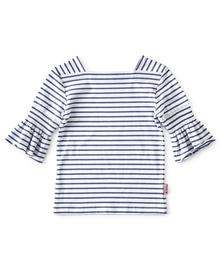 SS19 LL Top puff sleeve blue stripe 87198746845