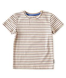 Little label T-shirt fine stripe blue/orange 87198746862