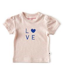 Little label T-shirt fluo pink stripe 87198746861