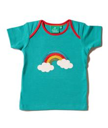 Little Green Radicals Beyond The Rainbow Appliqué Tee S20-403-PEA