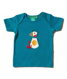 Little Green Radicals Puffin Island Applique Tee S20-403-TIL