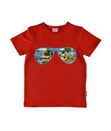 Baba babywear T-shirt Boy Sunglasses Red S19 jersey single lycra plain