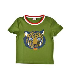 SS19 BB T-shirt Boy Tiger Kaki S19 jersey single lycra plain