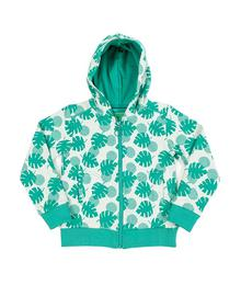 Hoody Tristan palm leaves jacquard